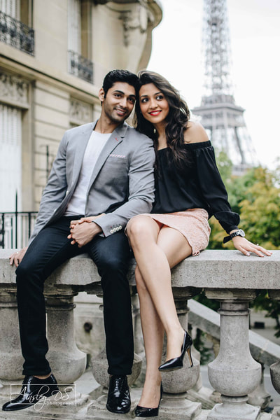 Ruslaan Mumtaz and wife Nirali M photo shoot in Paris. Photographer Ainsley Ds Photography.